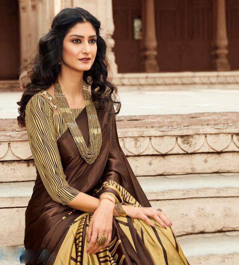 Office Wear Satin Silk Saree
