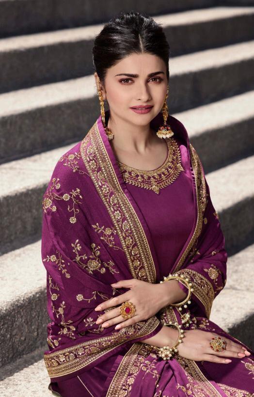 Purple Suit Combination Dupatta