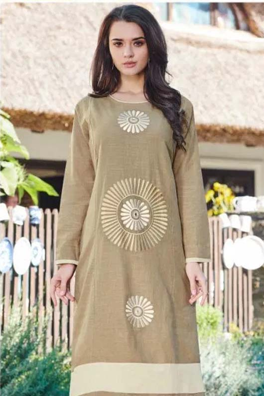 Brocade Kurti Neck Designs