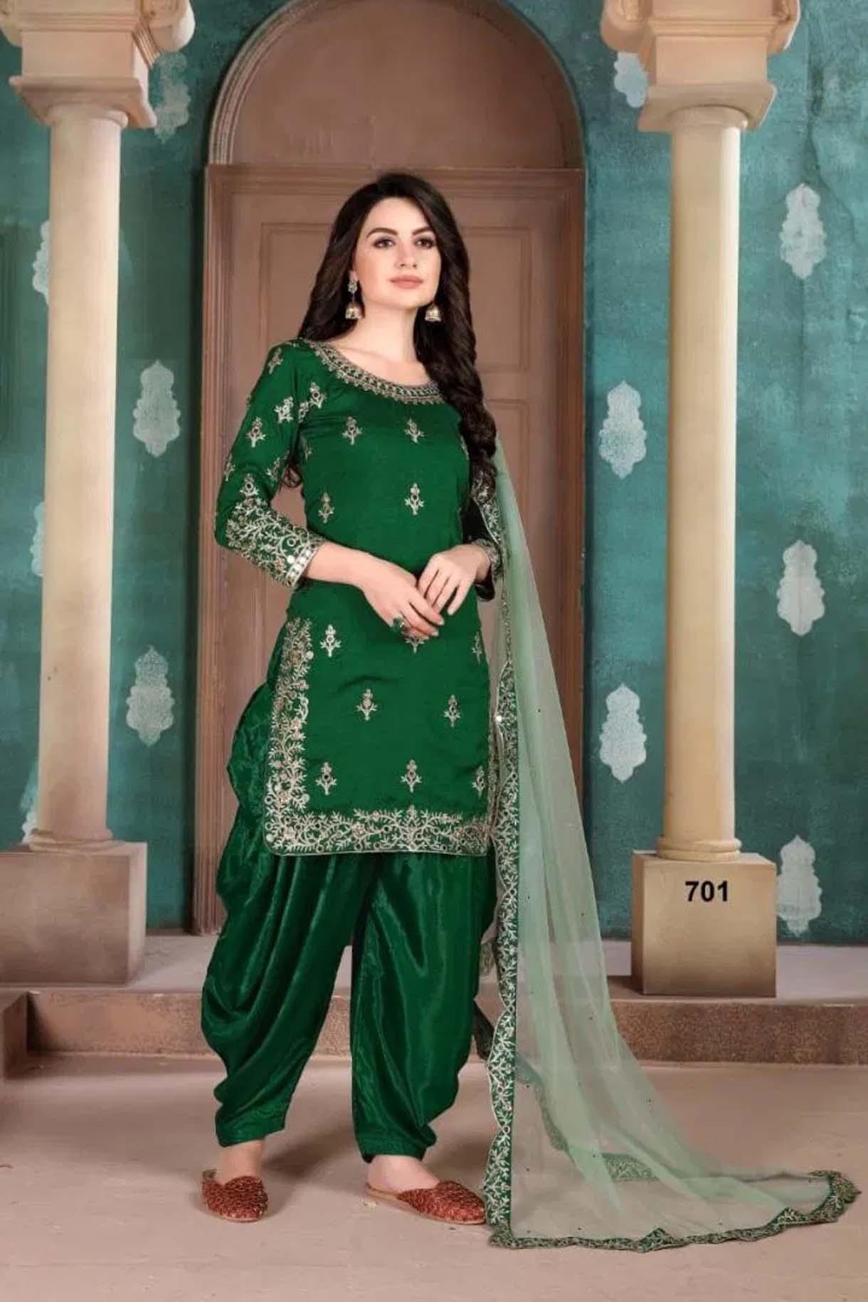 Greem Colour Patiala Salwar Suit Latest Design