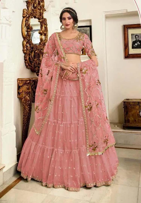 Latest Lehenga Designs in Pink Colour
