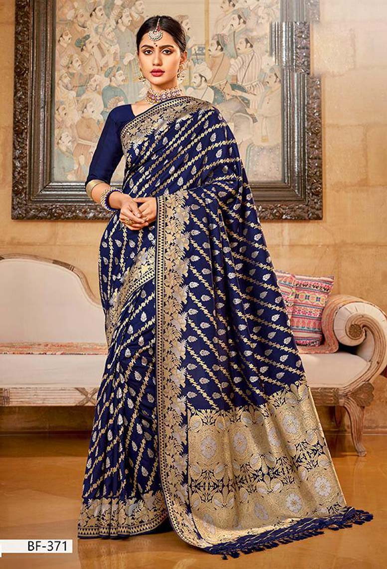 Latest Pure Silk Saree Designs