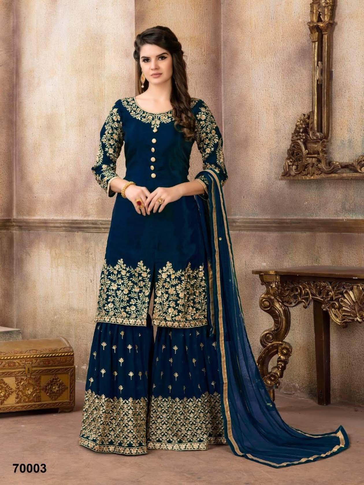 New Bridal Suit Navy Blue Color