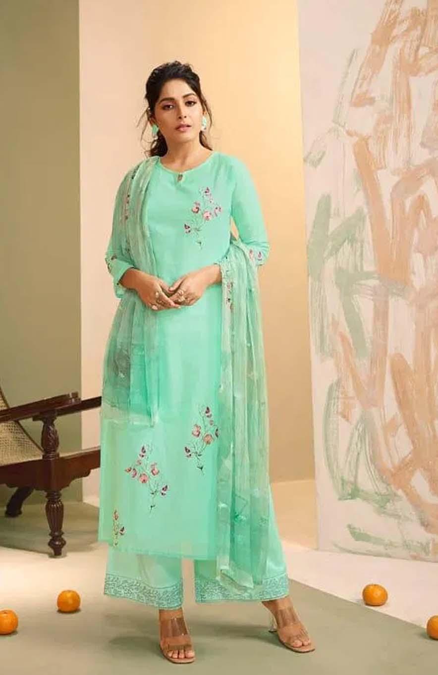 Designer Embroidered Unstitched Dress Material
