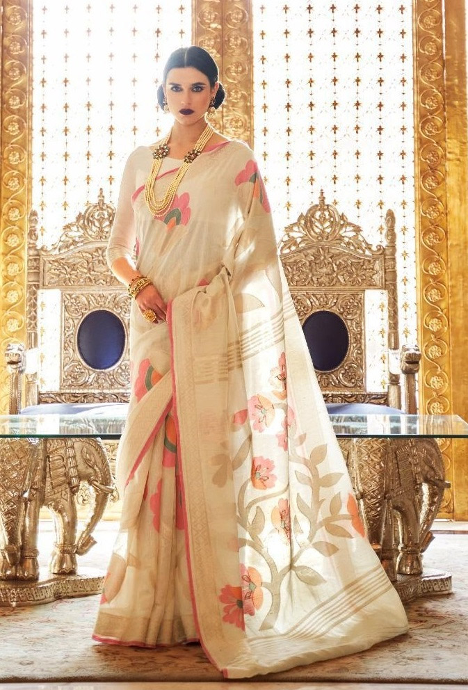 linen Sarees Images with Price