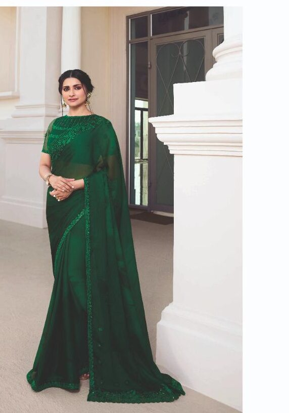 Bollywood Style Green Designer Sarees for Wedding