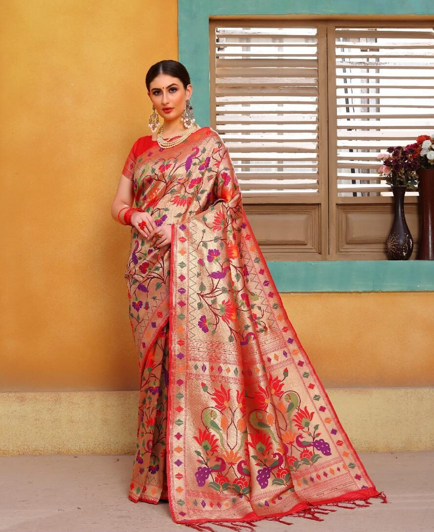 Designer Banarasi Saree for Bengali Marriage with Price