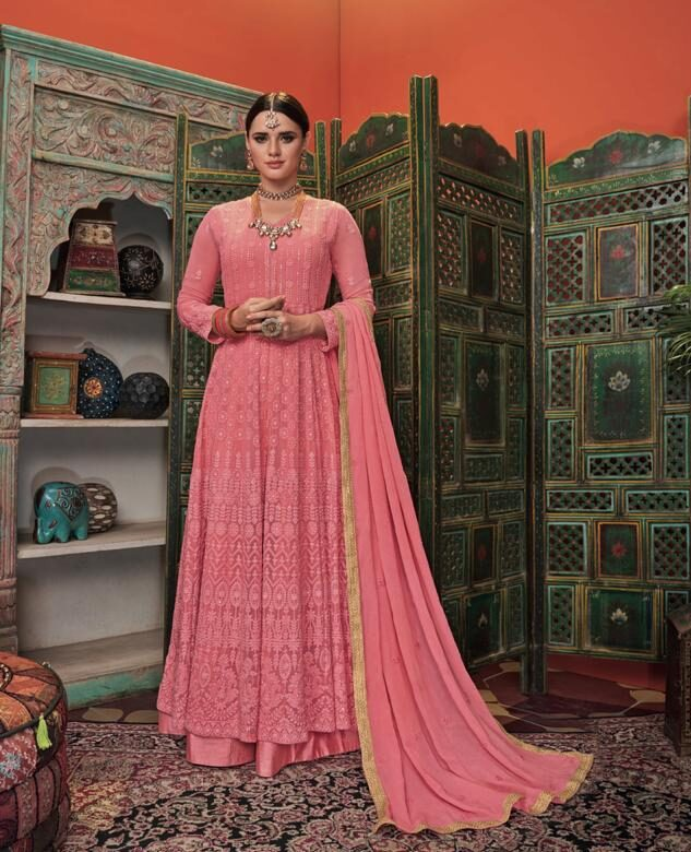 Hot Pink Indian Party Dresses Online Shopping