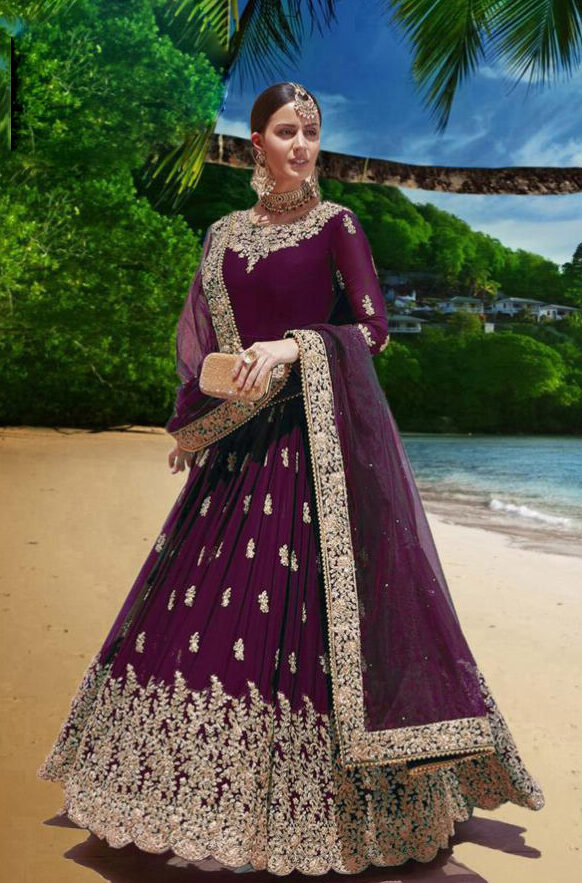 Light Purple Party Wear Gown With Price