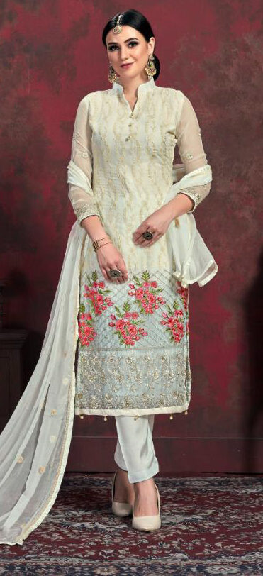 New Designer Chiffon Suit With Dupatta