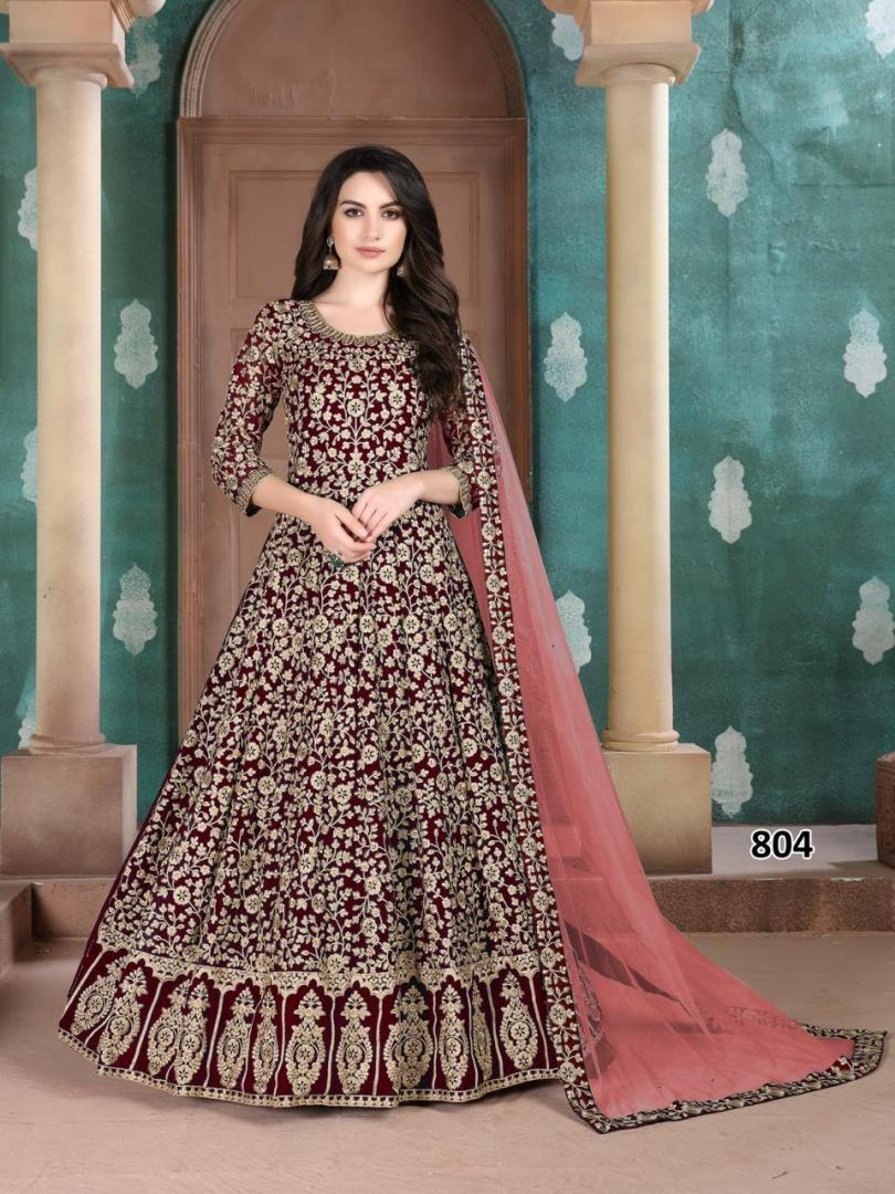 Preeta Dress Style in Plum Colour Gown