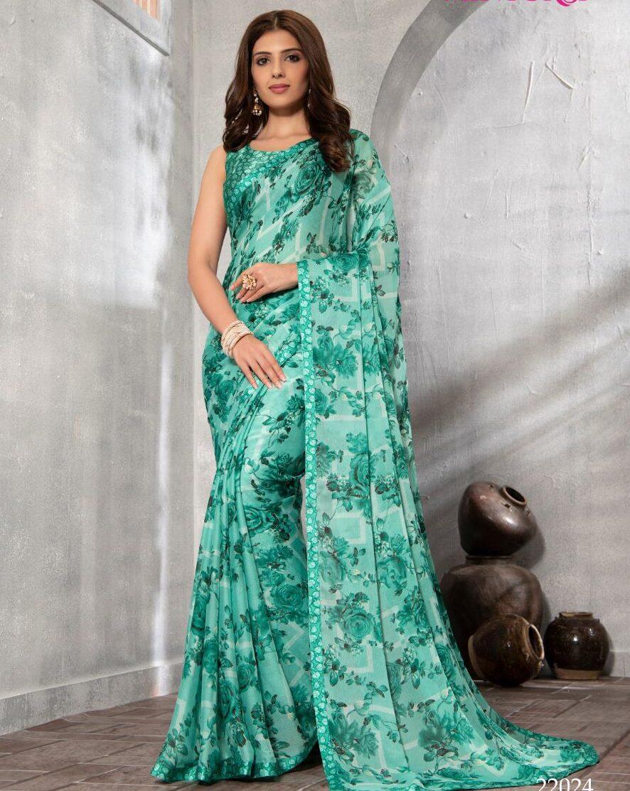 Designer Floral Printed Office Wear Best Saree