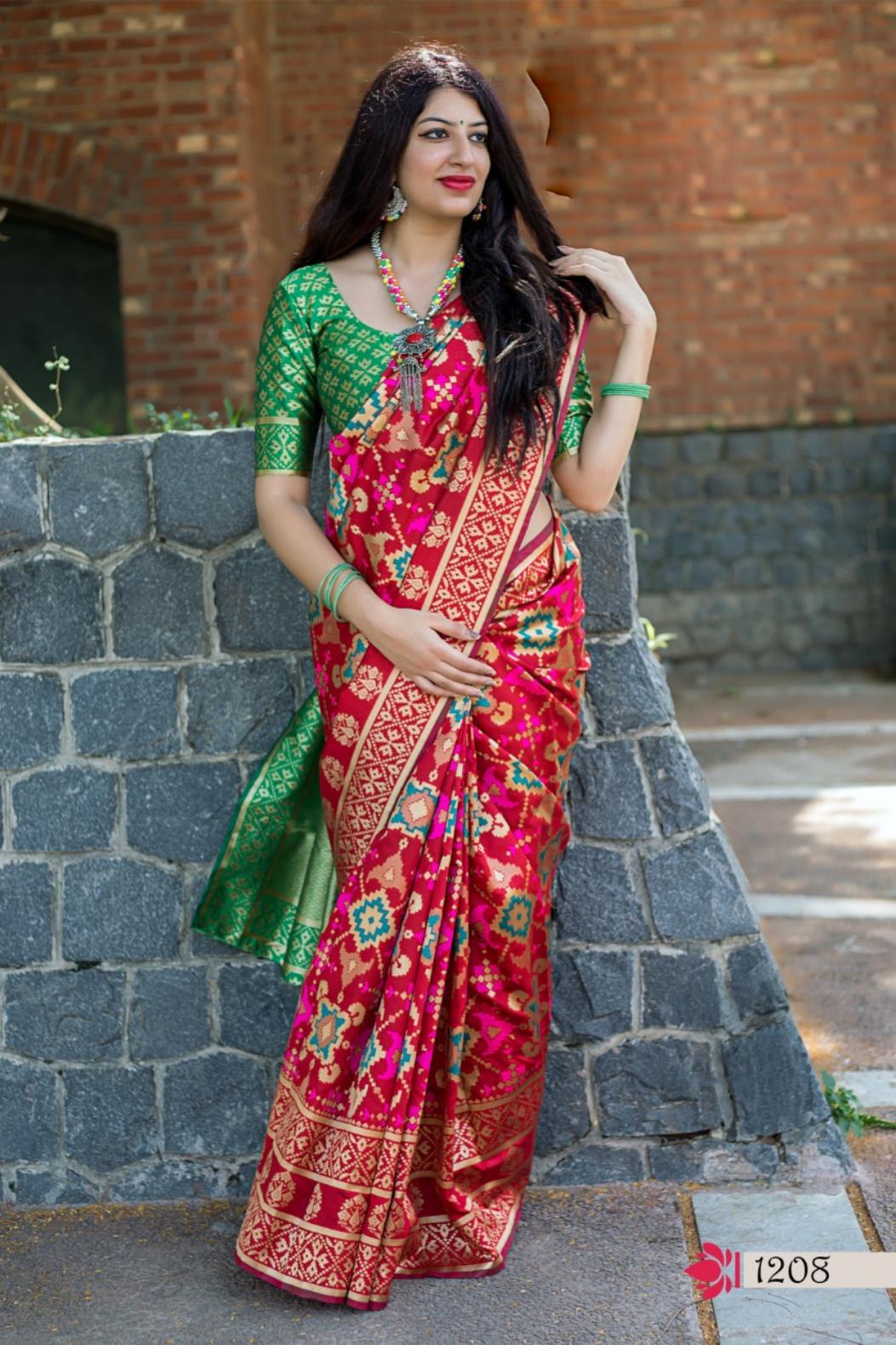 Digital Print Latest Silk Saree Banarasi with Designer Blouse