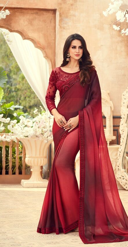 Hot Red Latest Wedding Sarees Collection 2020