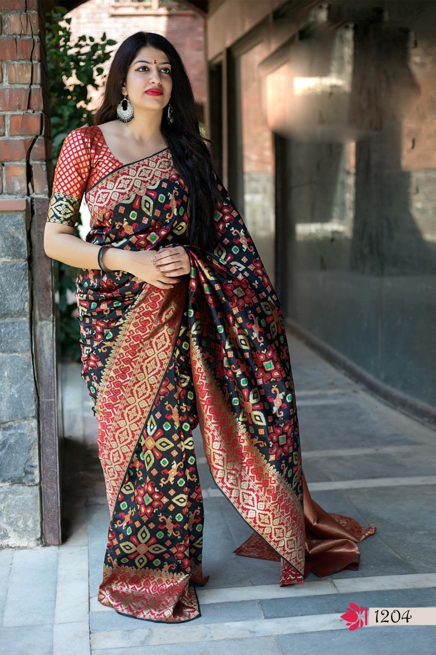 Latest Design of Silk Saree Blouse Design