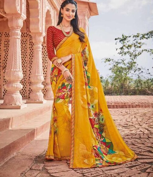 Latest Designer Daily Wear Printed Saree