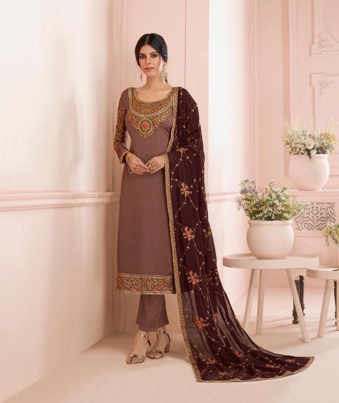 Latest Designer Heavy Embroidered Unstitched Salwar Kameez