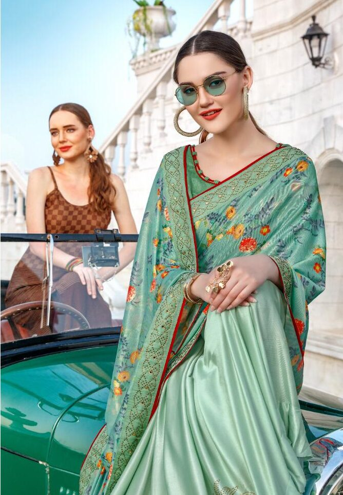 Latest Indian Fashion of Saree in Ruffle Design