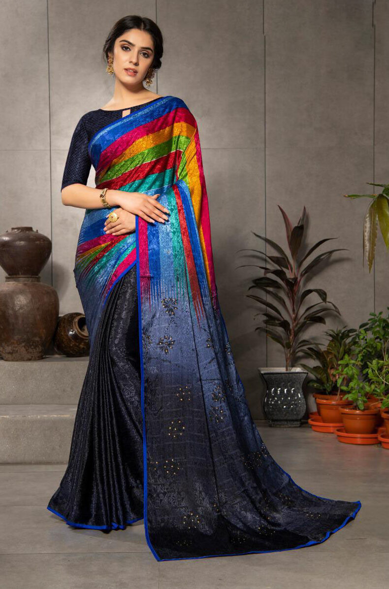 New Catalogue Launched Rainbow Color Saree With Price