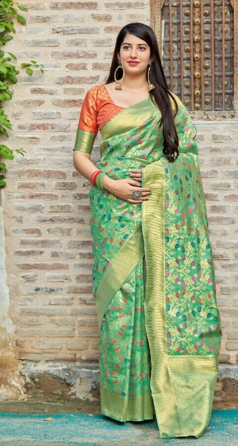 New Designer Banarsi Silk Saree With Online