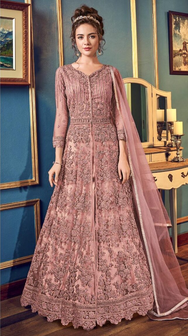 New Designer Best Embroidered Gown With Price.