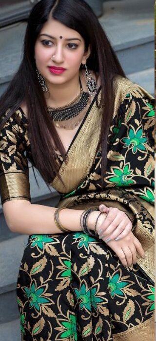 New Designer Black Color Jamdani Sarees With Price