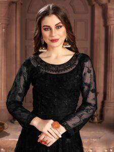 New Designer Black Color Kundali Bhagya Anarkali Suit