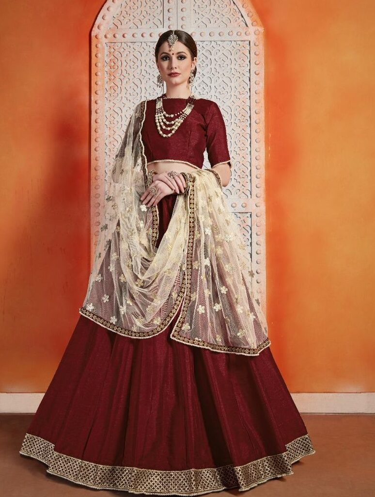 New Designer Combo Launched Red Color Party Wear Lehenga