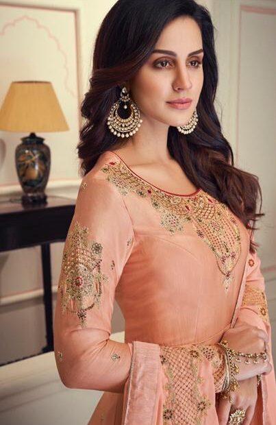 New Designer Cream Pink Color Anarkali Suit For Women