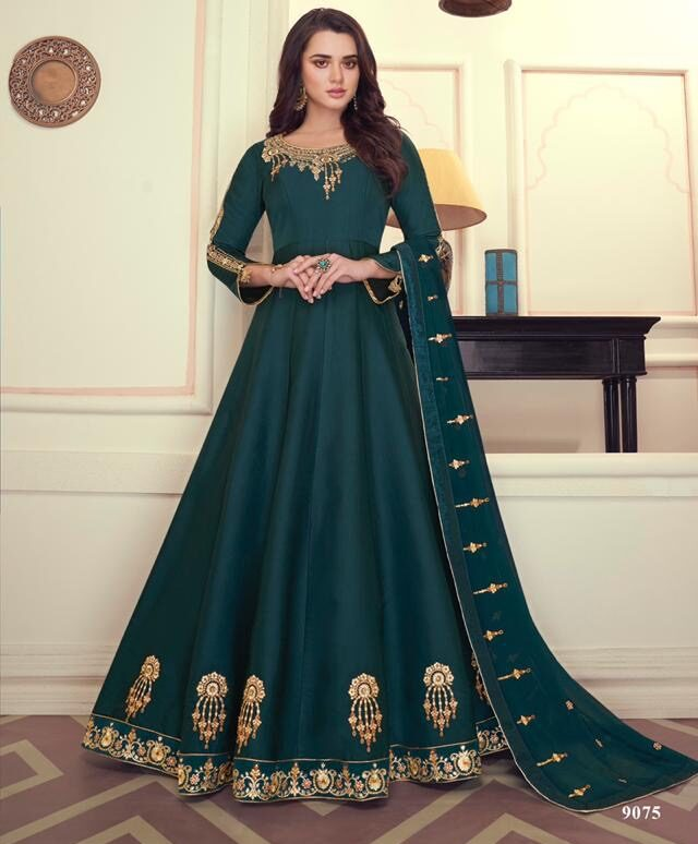 New Designer Dark Green Color Anarkali Suit For Women