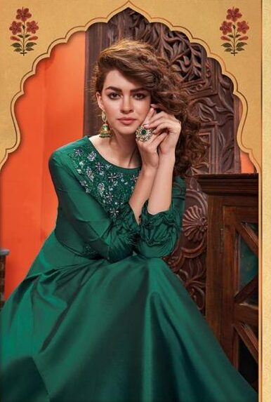 New Designer Dark Green Color Gown With Price