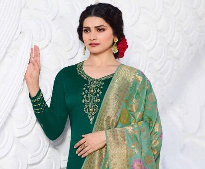 New Designer Green Color Salwar Suit With Price
