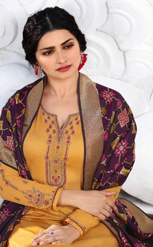 New Designer Haldi Color With Heavy Dupatta.