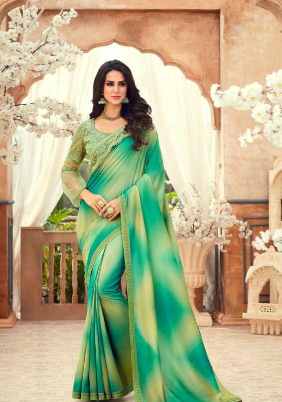 New Designer Heavy Blouse Saree for Weddiang Reception