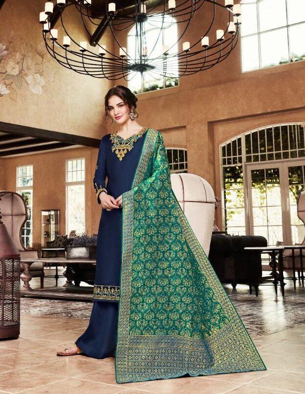 New Designer Nevi Blue Color Punjabi Salwar Suit