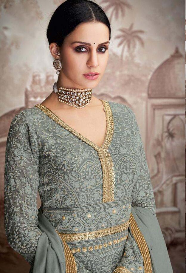 New Designer Party Wear Indowestern Gown