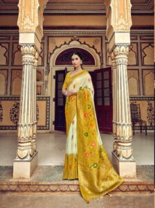 New Designer Party-Wear Silk Saree At Low Price