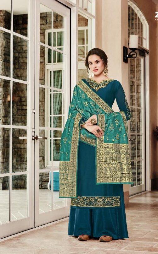 New Designer Punjabi Suits Design In Blue Color.