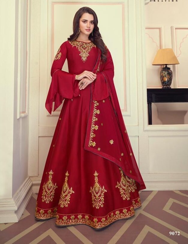 New Designer Red Color Anarkali Lehenga With the price