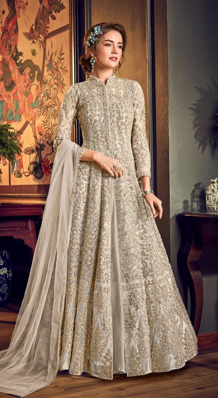 New Designer White Color Gown With Price