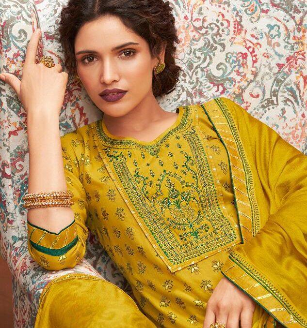 New Designer Yellow colorKurti With Sahara at Low Price