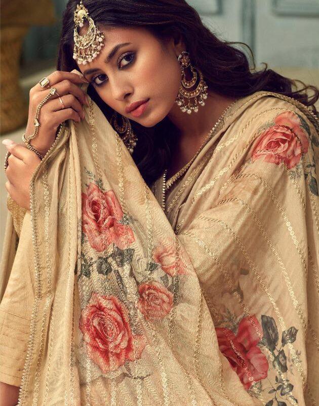 New Trend Designer Digital Print Silk Dupatta online.