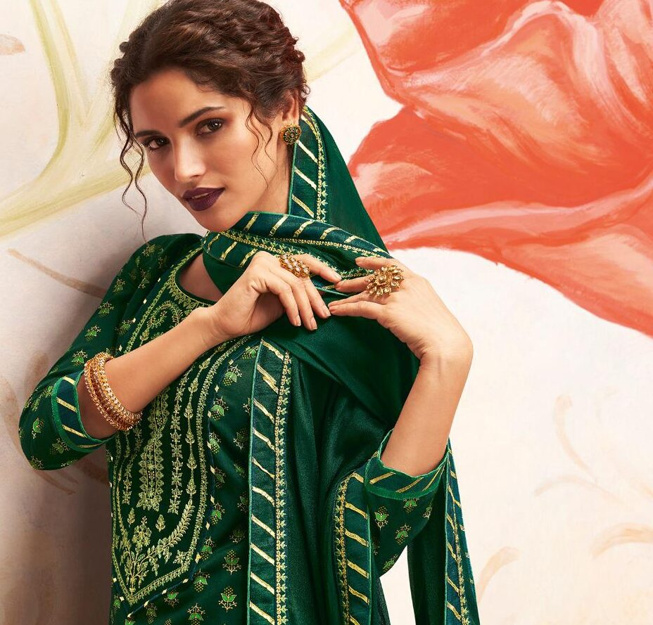 New Trend Designer Green Color Salwar Suit for Women