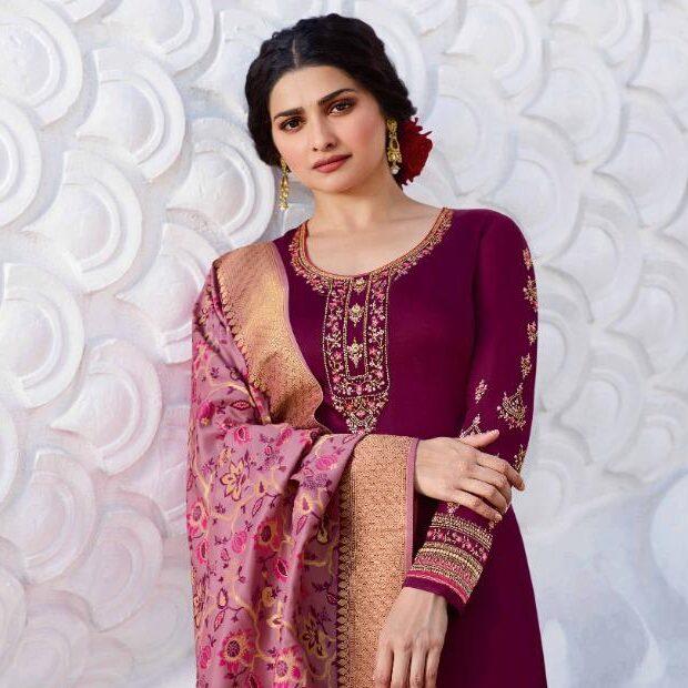 New Trend Designer Purple Color Salwar Suit With Online