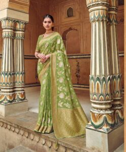 New designer Party-wear Silk saree with price