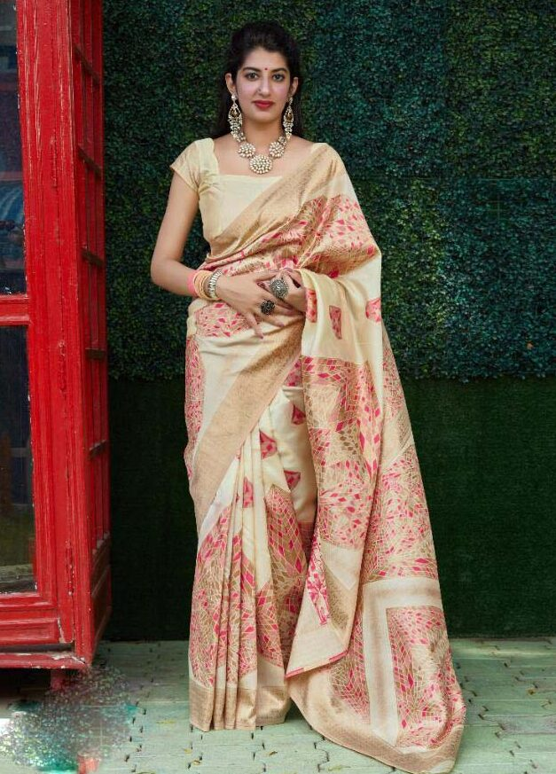 New trend designer silk bridal saree for festival.