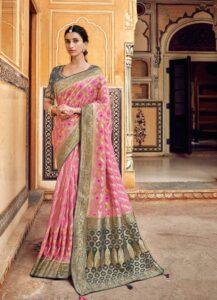 Silk Baby Pink Saree With Price.