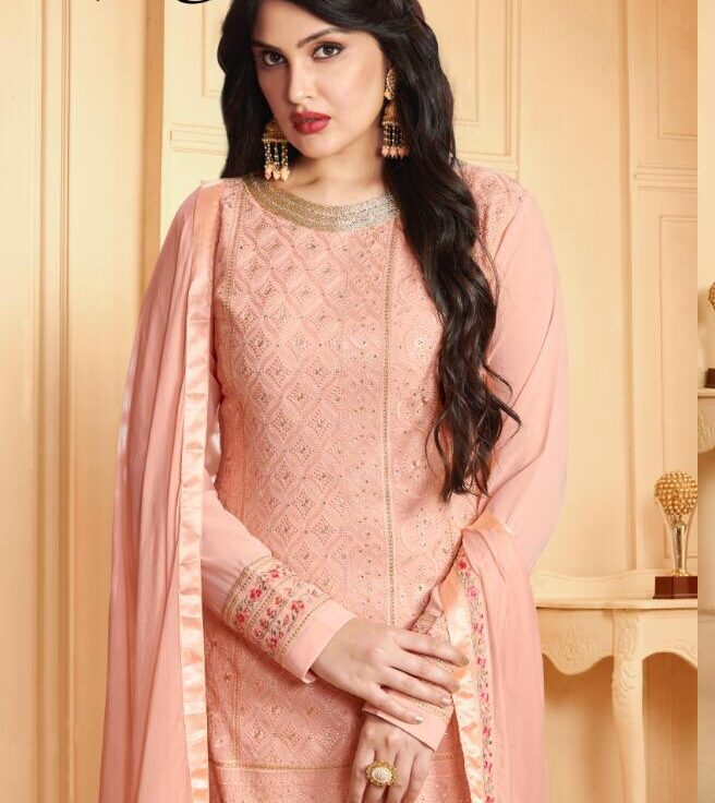 Baby Pink Sharara Dress with Price