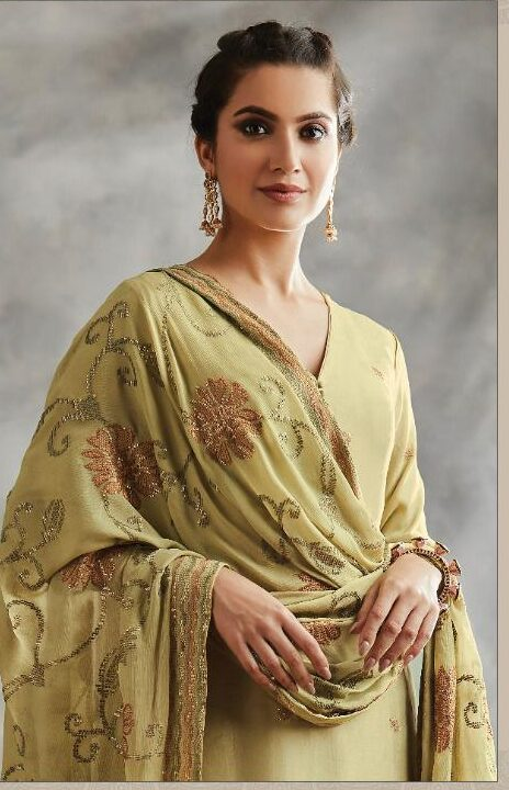 Best Embroidered Heavy Chiffon Suit With A Price
