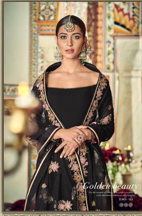 Black Sharara Suits for Wedding